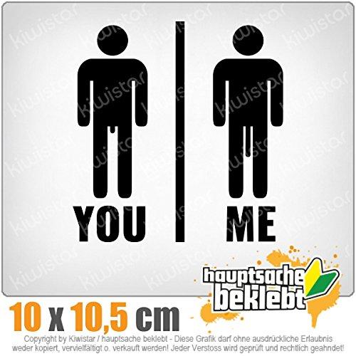 Kiwistar You vs. Me - Längenvergleich IN 15 Farben - Neon + Chrom! Sticker Aufkleber