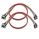 2 Pack Computer Case ATX Power On Off Reset Switch Cable with 2 x LED Light...
