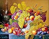 DIY pintura diamante Fruta en la mesa Kit de Pintura de Diamantes 5D para Manualidades Punto de Cruz Diamante DIY Pintura al oleo por numeros 30x40cm