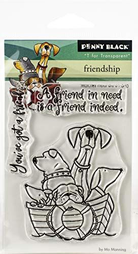 Penny Black Clear Stamps-Friendship 3'X4', Multi