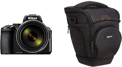 Nikon Coolpix P950 schwarz & Amazon Basics SLR-Schultertasche (schwarz)