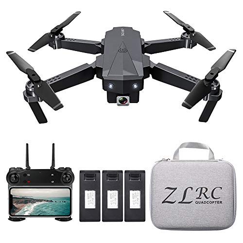 Goolsky SG107 Mini Drone Pieghevole con Telecamera 4K HD Coperta RC Quadcopter App Controllo modalità Senza Testa Traiettoria di Rotazione a 360 ° Volo per Adulti Bambini Principianti Ottimo