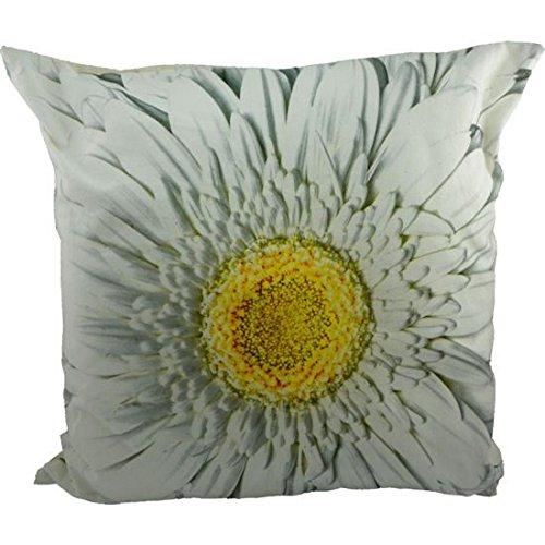 Coussin toile avec fleur de gerbera Photo. carré de 50 cm White