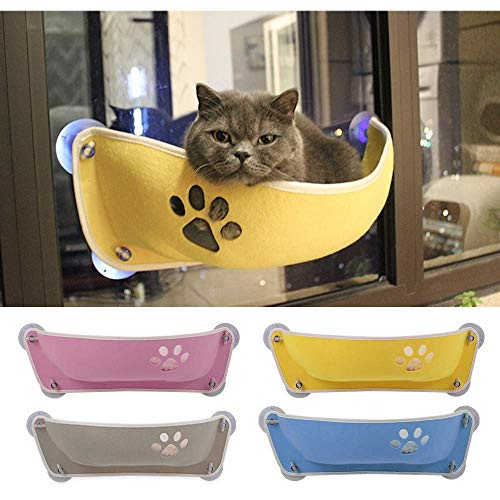 Cxjff Katzen-Fenster-Sitzstange, Katzen-Fenster-Bett, Katzen-Fenster-Sitzbank für Katzen