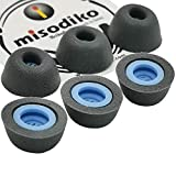 misodiko Upgraded Memory Foam Eartips Compatible with Huawei FreeBuds Pro Noise Canceling True Wireless Earbuds Ear Tips (3Pairs, Large, Titanium)