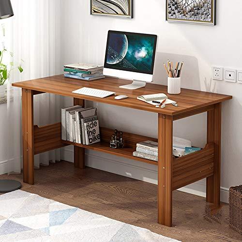 Escritorio de computadora de escritorio de madera maciza para el hogar, Escritorio de mesa de trabajo estable fácil de instalar, Escritorio para estudiantes con tablero de almacenamiento