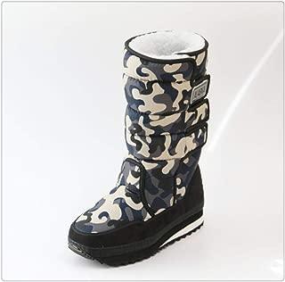 Men Boots Platform Snow Boots Thick Plush Waterproof Slip-Resistant Winter Shoes