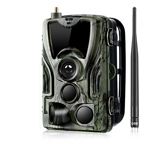 YCXYC 2G Wildkamera,HD 1080P 16MP Jagdkamera,GPRS GSM MMS SMS Beutekameras,IP66 wasserdichte 36PCS LED Infrarot-Nachtsicht Bis Zu 20M, Triggerzeit 0.3S,Mit 2,0LCD-Display Waldjagdkamera