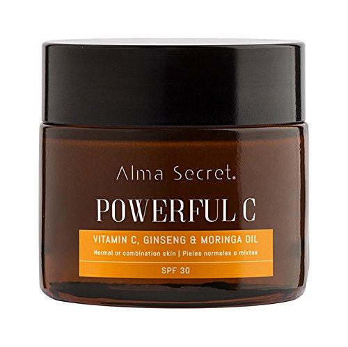 Alma Secret POWERFUL C Crème éclaircissante anti-âge avec vitamine C, Ginseng & Moringa. SPF 30-50 ml