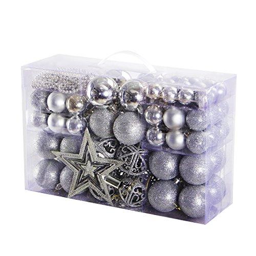 Yorbay palline di Natale con palle di Natale Set Natale Albero Decorazioni Ornamento Bagattelle Festa Di Natale (Kit Oro)