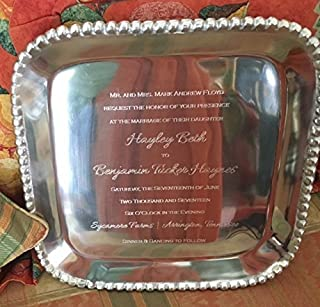 perfect wedding gift engraved tray personalized wedding gift serving tray engraved invitation on tray wedding gift