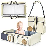 Koalaty 3-in-1 Universal Baby Travel Bag,Multifunctional Diaper Bag, Changing Station, Portable Bassinet Crib for Infants and Newborns.