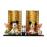 [ベルメゾン] ディズニー 親王飾り 平飾り 雛人形 おひなさま ミッキー&ミニー