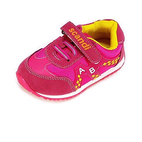 Magnus Kinder Schuhe Baby Sportschuhe (121A) Halbschuhe Kinderschuhe Jungen,Mädchen Schuhe Pink, Größe 24