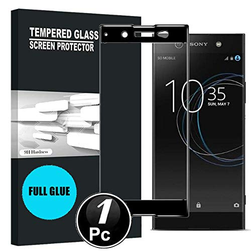Sony Xperia XA1 Ultra Protector de Pantalla, Scott-ES [Curvado 3D] Vidrio Templado Cristal Protector para Sony Xperia XA1 Ultra [X1-Negro]