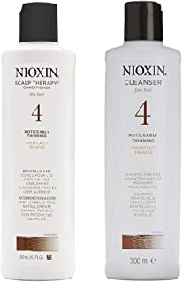 Nioxin Cleanser Shampoo & Scalp Therapy System For Colored Hair Progressed Thinning - Twin Pack 300ml/ 10.1 Oz