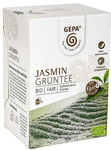Gepa Bio Jasmin Grüntee - 100 Teebeutel - 5 Pack ( 20 x 1,5g pro Pack)