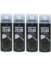 AZ(エーゼット) ラバーペイント ZEQUE 油性 RP-2 グロスブラック 400ml(RP020)×4本 SE309