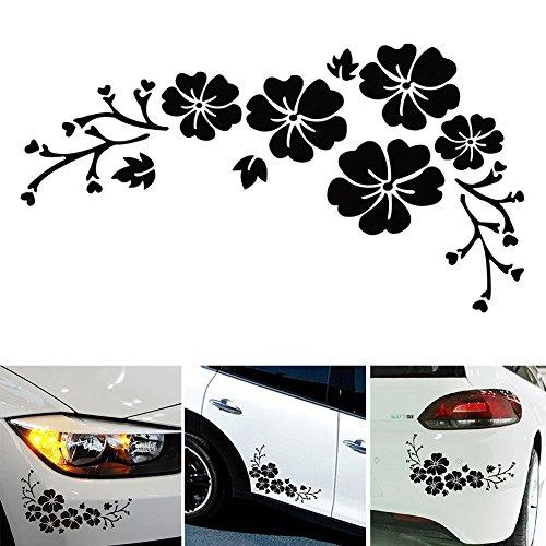 Etiquetas engomadas multicolores Paquete de etiquetas engomadas de la flor Etiqueta delicada del coche Grabado Patrón de...