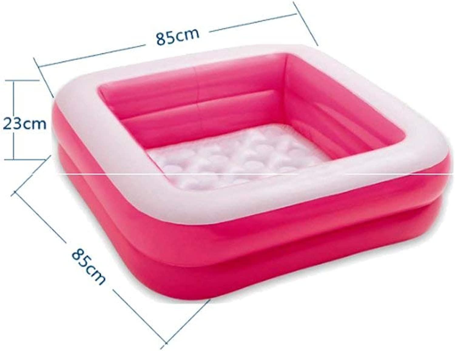 GFF Inflatable swimming pool floor Inflatable swimming pool Insulation Inflatable swimming pool Inflatable swimming pool PVC85  23cm (color  PINK)