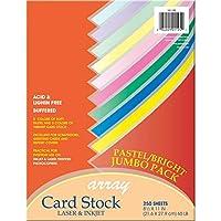 Pacon カードストック パステルと明るいジャンボ詰め合わせ 10色 8-1/2インチ x 11インチ 250枚