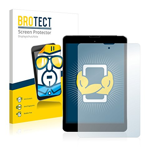 BROTECT Schutzfolie kompatibel mit Kiano Elegance 8 3G (2 Stück) klare Bildschirmschutz-Folie