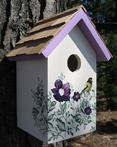 GARDEN BAZAAR HB-9075PACS Salt Box Anemone Bird House - White