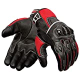 Oro Biker Motorcycle Gloves, Leather and Breathable Summer...