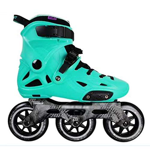 one- 3 110Mm Speed Inline Skates Street Adult Skating Shoes Free Skating Skates Adult,Verde,38