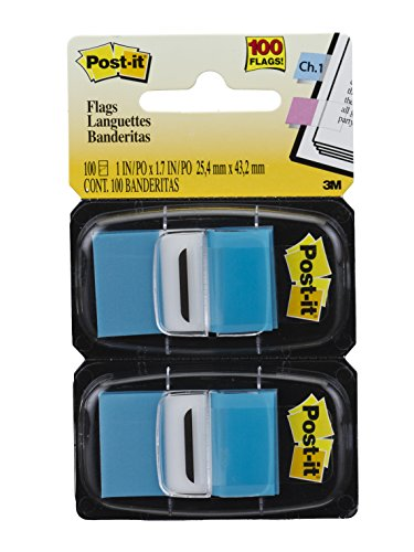 Marcador de Página Adesivo Post-it Flags Azul 25,4 mm x 43,2 mm - 100 folhas