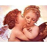 ANpygh 1000Piezas Puzzle,Regalos Hombre,Regalos para Mujer,Puzzle 1000 Piezas,Juguetes niños,Navidad(50x75cm) Dos angelitos