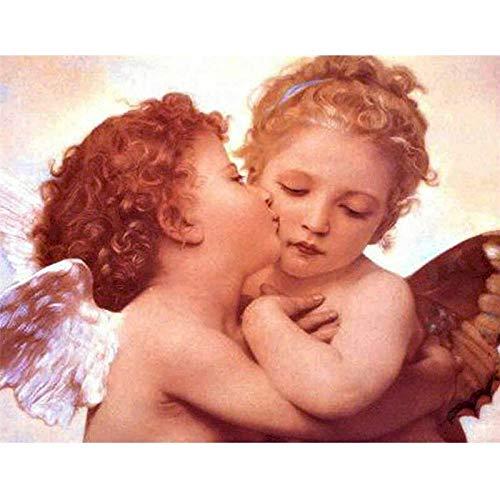 cnmd 1000Piezas Puzzle,Regalos Hombre,Regalos para Mujer,Puzzle 1000 Piezas,Juguetes niños,Navidad(50x75cm) Dos angelitos