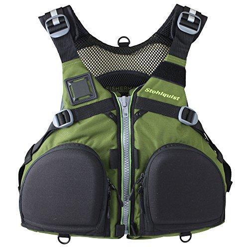Stohlquist Fisherman Lifejacket (PFD)-OliveGreen-L/XL