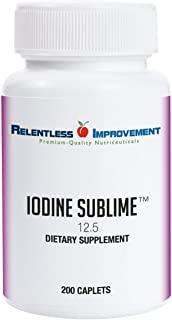 Relentless Improvement Iodine Sublime 12.5mg 200 Caplets Compare to Iodoral