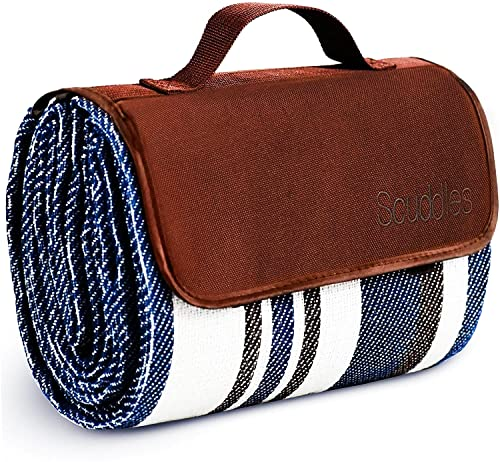 Picnic Outdoor Blanket Park Blanket Beach Mat for Camping on Grass Oversized Seats Adults Water Resistant Picnic Mat (60 X 60, Blue)