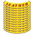 VERSA-TAGS Vinyl Highlights Smile Adhesive Slogan Car Dealer Sticker, Yellow & Red