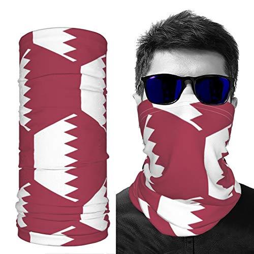 SD3DPrint Katar-Flagge Unisex Sturmhaube, Gesichtsschal, Kopfbedeckung, Halstuch, Staubmaske, Sonne, UV-Staub, winddicht, 2 Stück