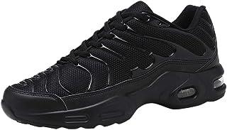 Zapatos Deportivos de Malla Hombre Al aire libre Zapatillas con Cordones de fondo suave Informal Transpirable Zapatillas d...