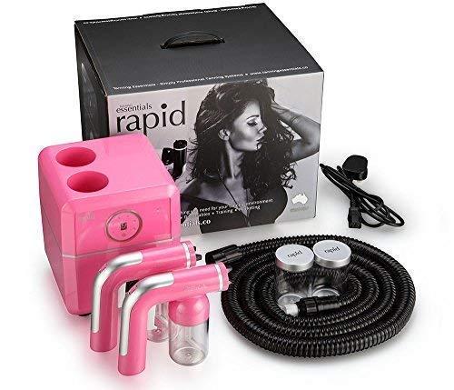 Tanning Essentials Rose Fuchsia 'Rapide' Pulvérisateur Bronzage Unité - avec Gratuit Funkissed sans Soleil Bronzage Solutions