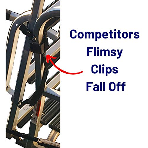 EZ-Xtend Pontoon Ladder Pull Up Strap Using Snap Hook System - Made with Heavy Duty 4500 LB Breaking Strength 1