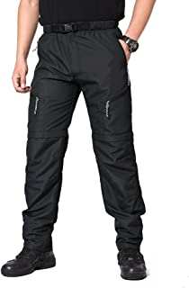 MAGCOMSEN Men's Hiking Pants with 5 Pockets Quick Dry Lightweight Convertible Pants