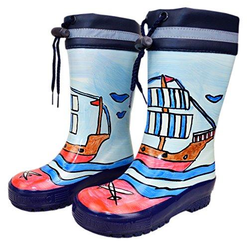 MaxiMo | Stivali di gomma blu 'Korsar' per ragazzi, misura 22