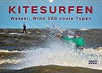 Kitesurfen - Wasser, Wind und coole Typen (Wandkalender 2022 DIN A3 quer): Kitesurfing, ultimativer Funsport mit vielen begeisterten Anhaengern. (Monatskalender, 14 Seiten )