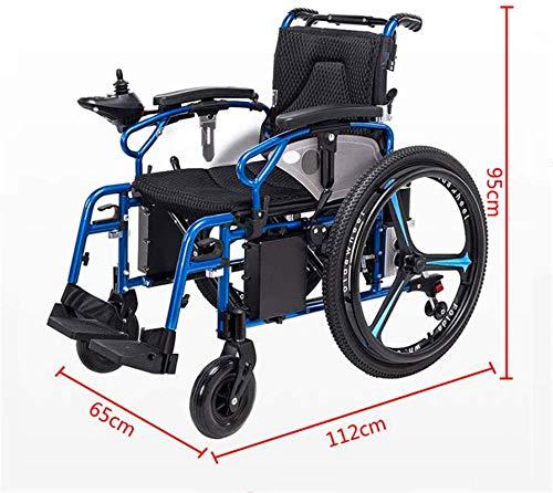 51UaDelouDL - Sillas de ruedas eléctricas para adultos Silla de ruedas eléctrica Silla de ruedas plegable y reclinable silla de ruedas, ancianos y discapacitados de cuatro ruedas del vehículo Cuidado, 150 kg de automobile