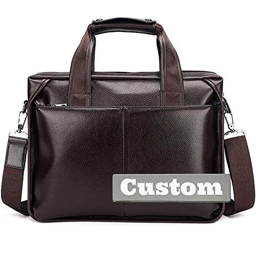 BEIJING ♋ Maletín personalizado personalizado Maletín de rodillo de la bolsa de cuero con bolsillos con bolsillos Tote Travel
