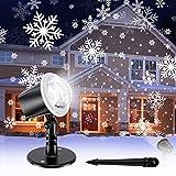 Koicaxy Christmas Snowflake Projector Light, Led Snowfall Show Outdoor...