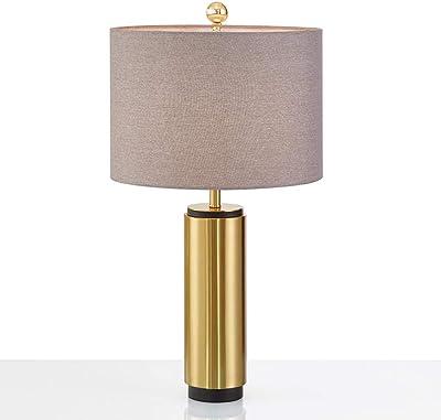 Tischleuchte Honsel Bert 50097 Tischlampe Gold Beige Schnurschalter