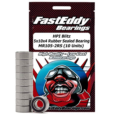 FastEddy Bearings HPI Blitz 5x10x4 Rubber Sealed Bearing MR105-2RS (10 Units)