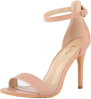 Women's Heeled Sandals Ankle Strap High Heels 10CM Open Toe Bridal Party Shoes