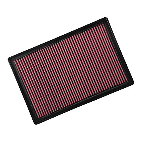 Flowmaster 615023 Delta ForceCold Air Intake Filter Panel 13.75 in. Overall Length 9.313 in. Overall Width 1.563 in. Overall Height Red Delta ForceCold Air Intake Filter